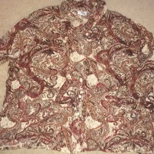 Paisley button down shirt. Long sleeve size 30/32